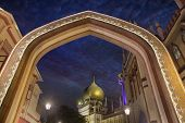 Sultan Mosque Gateway Blue Hour
