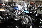 Bangkok - November 28: Triumph Tiger Gcx Motorcycle On Display At The Motor Expo 2014 On November 28