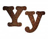 Letter Y Rusty Metal.