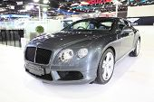 Bangkok - November 28: Bentley Continental Gt V8 Car On Display At The Motor Expo 2014 On November 2
