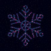 Snowflake Made Of Bright Stars