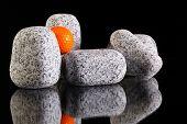 Granite stones and golf balls