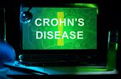 Notebook with words crohn's disease