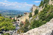 Tourists See The Sights Of San Marino. The Republic Of San Marino