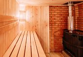 foto of sauna  - Interior Of The Sauna  - JPG