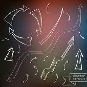 Hand Drawn Doodle Arrow Set
