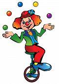 Clown juggler.