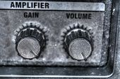 Close Up Of Guitar Amplifier Knobs In Hdr