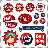 Sale Tags Banners Vector Set Design Concept