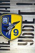Kiev,Ukraine.Dec 14.Illustrative editorial.Chevron of Ukrainian military officer (air force). 9 Aviation brigade.At December,2014 in Kiev, Ukraine