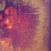 Abstract blank grunge background, old texture with stains and different color patterns: purple (violet); orange; brown; yellow