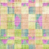 Art vintage background with space for text and different color patterns: blue; green; purple (violet); yellow
