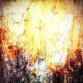 Old scratched retro-style background. With different color patterns: yellow; brown; orange; violet