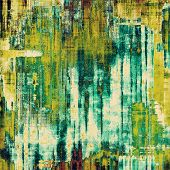 Old ancient texture, may be used as abstract grunge background. With different color patterns: blue; green; brown; yellow
