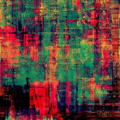 Old-style background, aging texture. With different color patterns: blue; green; red; orange