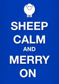 Keep Calm Merry Sheep