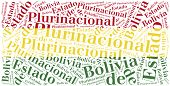 National Flag Of Bolivia. Word Cloud Illustration.