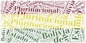 National Flag Of Bolivia. Word Cloud Illustration.