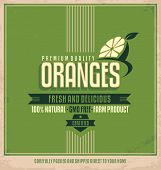 Fresh oranges poster design