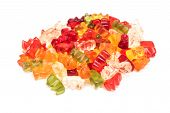 stock photo of gummy bear  - Sweet Jelly Gummy Bears Close Up Details - JPG