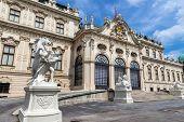 the belvedere palace in vienna, austria. architecture by johann lucas von hildebrandt