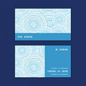 Vector doodle circle water texture horizontal stripe frame pattern business cards set