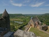 Chateau Beynac, Medieval Castle In Dordogne, France poster