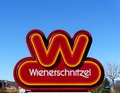 Wienerschnitzel Fast Foot Restaurant Sign