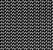 stock photo of trapezoid  - Black and white geometric seamless pattern with triangle and trapezoid abstract background vector - JPG