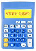 Calculator With Stock Index On Display Isolated