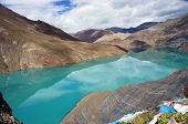 lake With Turquoise Water, Tibet