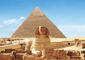 Pyramid and Great Sphinx Of Giza - Egypt
