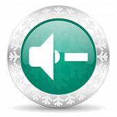 pic of christmas song  - speaker volume green icon - JPG