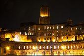 Forum Of Trajan At Night