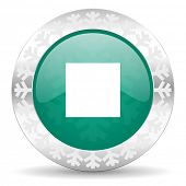 pic of christmas song  - stop green icon - JPG