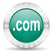 com green icon, christmas button