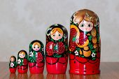 stock photo of doll  - matryoshka dolls - JPG