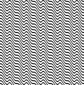 Black And White Ripple Stripe Seamless Pattern Abstract Background