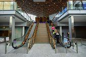 HELSINKI - SEP 03: Helsinki Airport interior on September 03, 2014 in Helsinki, Finland. Helsinki Airport is the main international airport of the Helsinki metropolitan region and the whole of Finland