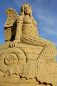 Atlantic City,NJ/USA-July 28,2014: Sand sculpting competition has evolved into a major performing arts attraction in Atlantic City, NJ. This piece of art was made by Bruce Philips.