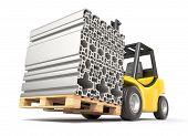 Forklift with aluminium profile