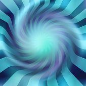 Blue background spiral.