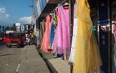 Dresses On Sidewalk