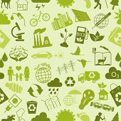 Environment, Ecology Seamless, Pattern. Environmental Background
