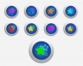 Nine Colors Stars On The Buttons
