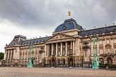 Royal Palace Bulding Facade In Brussels