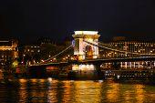 The Szechenyi Chain Bridge In Budapest