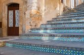 pic of staircases  - Perspectives of the famous Caltagirone staircase with its characteristic decorated steps - JPG