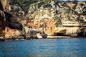 picture of lagos  - The rocky coast of Lagos on the Altantic ocean - JPG