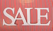 Sale on striped background